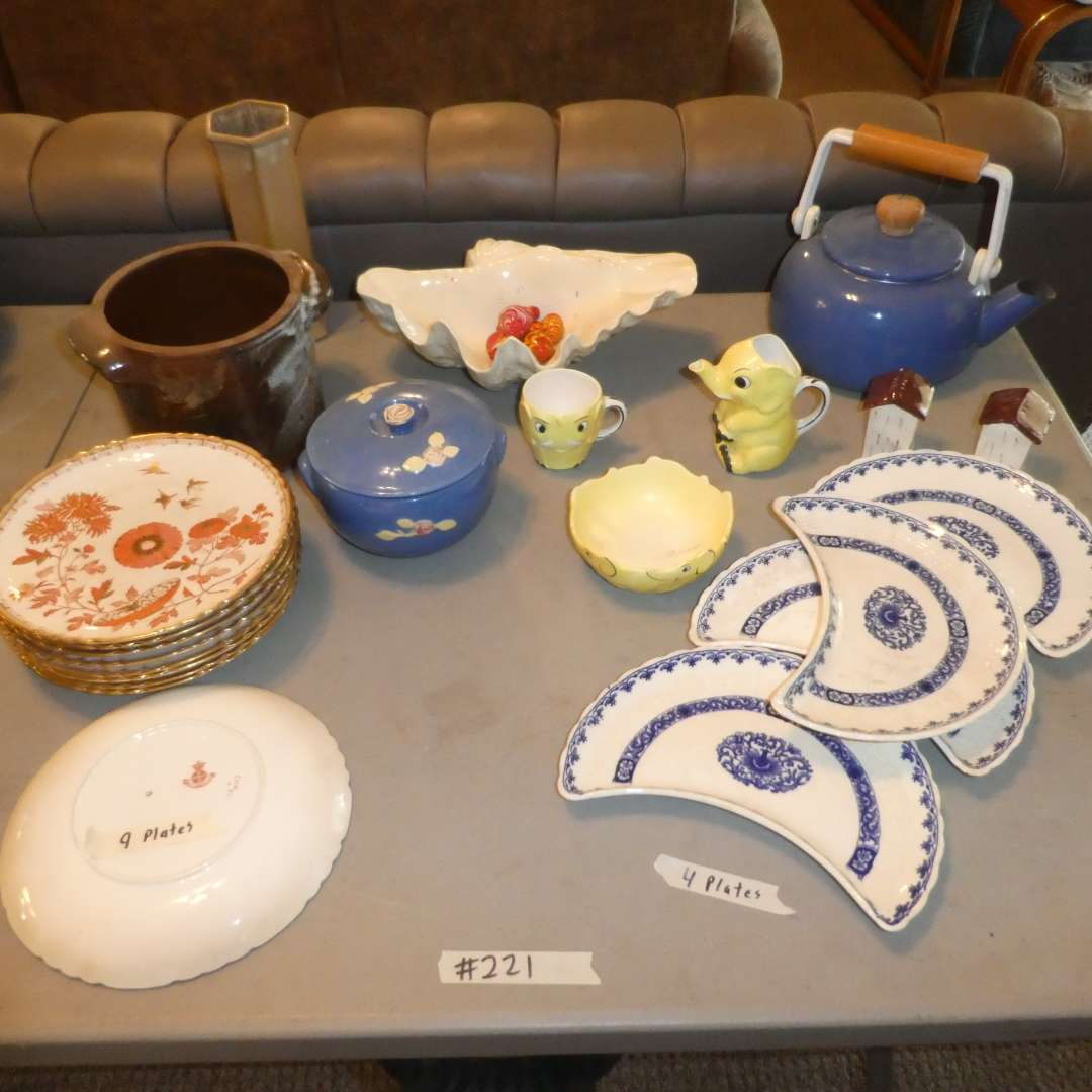 Lot # 221 - Vintage Collectible China,  Pottery & a few end of the day Glass Eggs (main image)