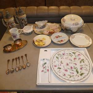 Lot # 223 - Vintage Collectible Plates, Collectible Spoons and Beer Steins