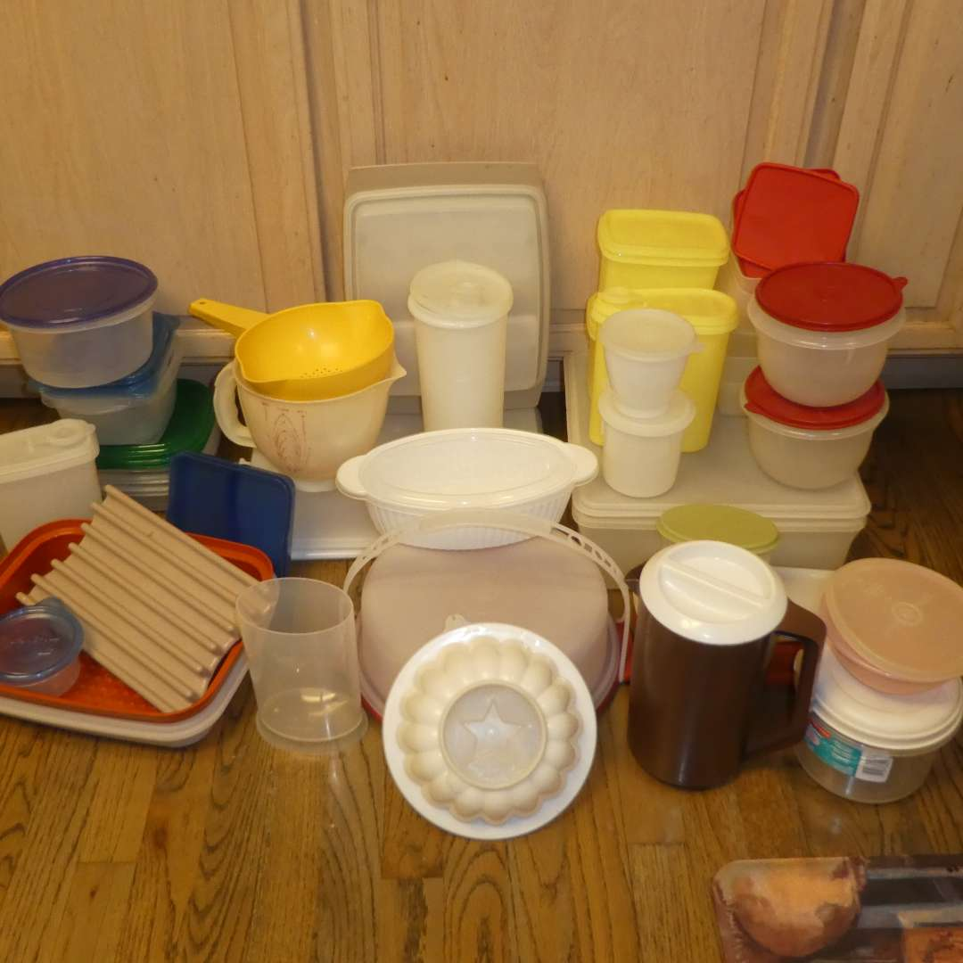 Lot # 224 - Large Assortment of Vintage Tupperware Containers  (main image)