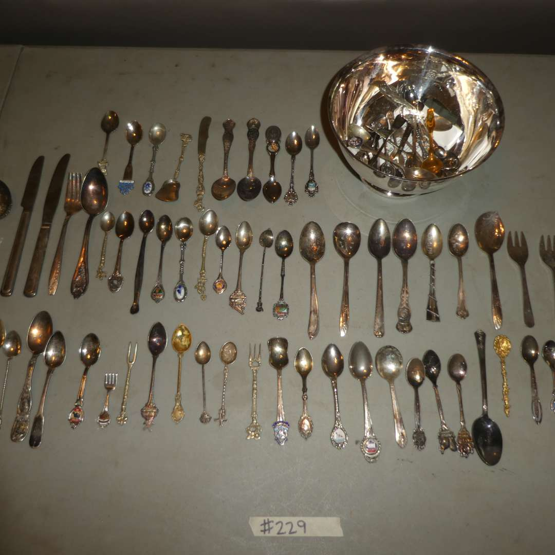 Lot # 229 - Silver Plated/Collectible Spoons  (main image)