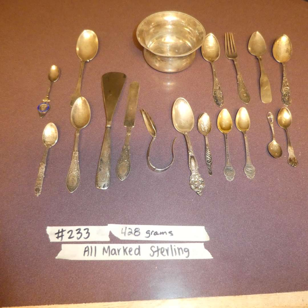 Lot # 233 - Sterling Silver Collectible Spoons and More (428 Grams)