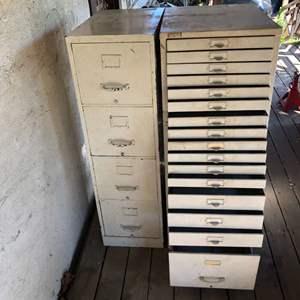 Lot # 7 - Vintage File Cabinets