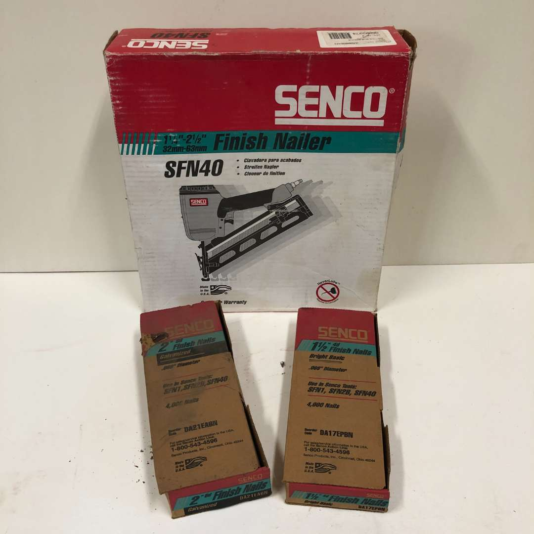 Lot # 18 - Senco Nail Gun and Nails (main image)