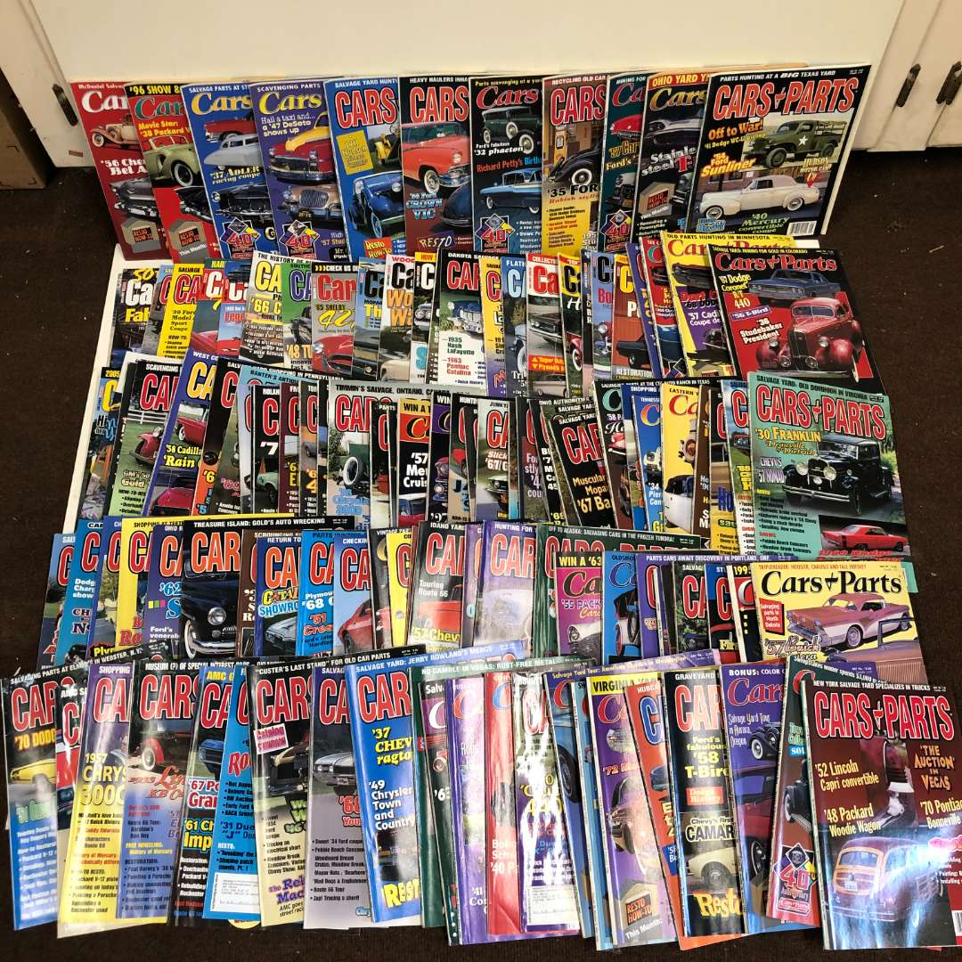 Lot # 24 - Cars and Parts Magazines - Over 110 issues (main image)