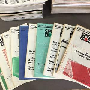 Lot # 28 - SPEAKER BUILDER and AUDIO magazines - Approximately 90 issues combined