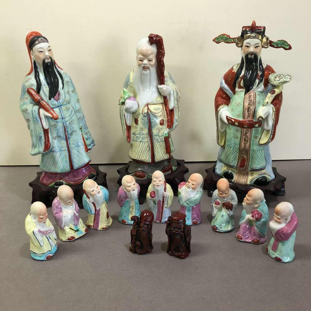 Lot # 29 - Sanxing Fu Lu Shou Chinese Wisemen Figurines (main image)