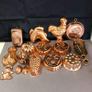 Lot # 77 - Large Lot of Vintage Copper Clad Molds