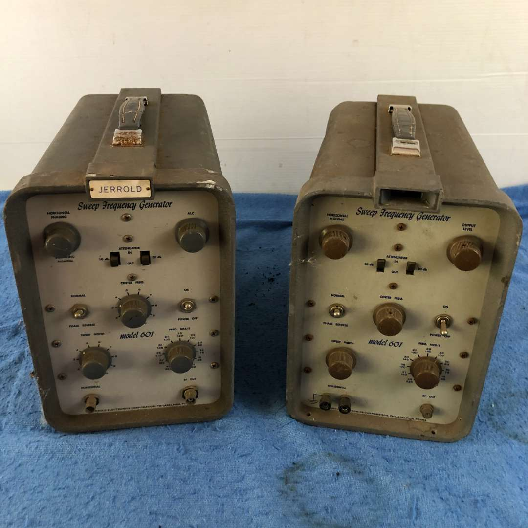 Lot # 64 - Lot of 2 Jerrold Model 601 Sweep Frequency Generators (main image)