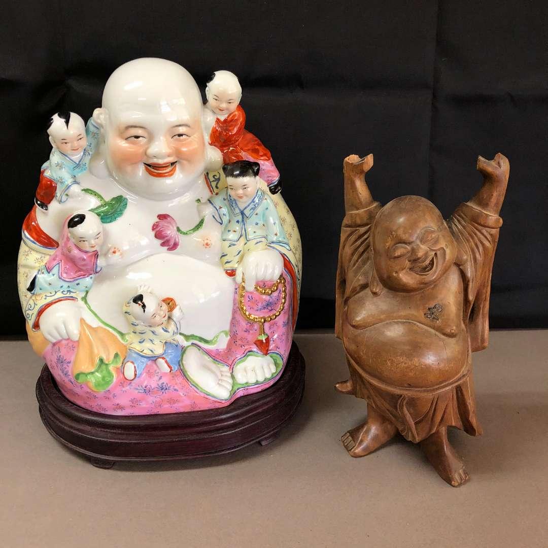 Lot # 78 - 2 Ho Tai Laughing Buddha Statues (main image)