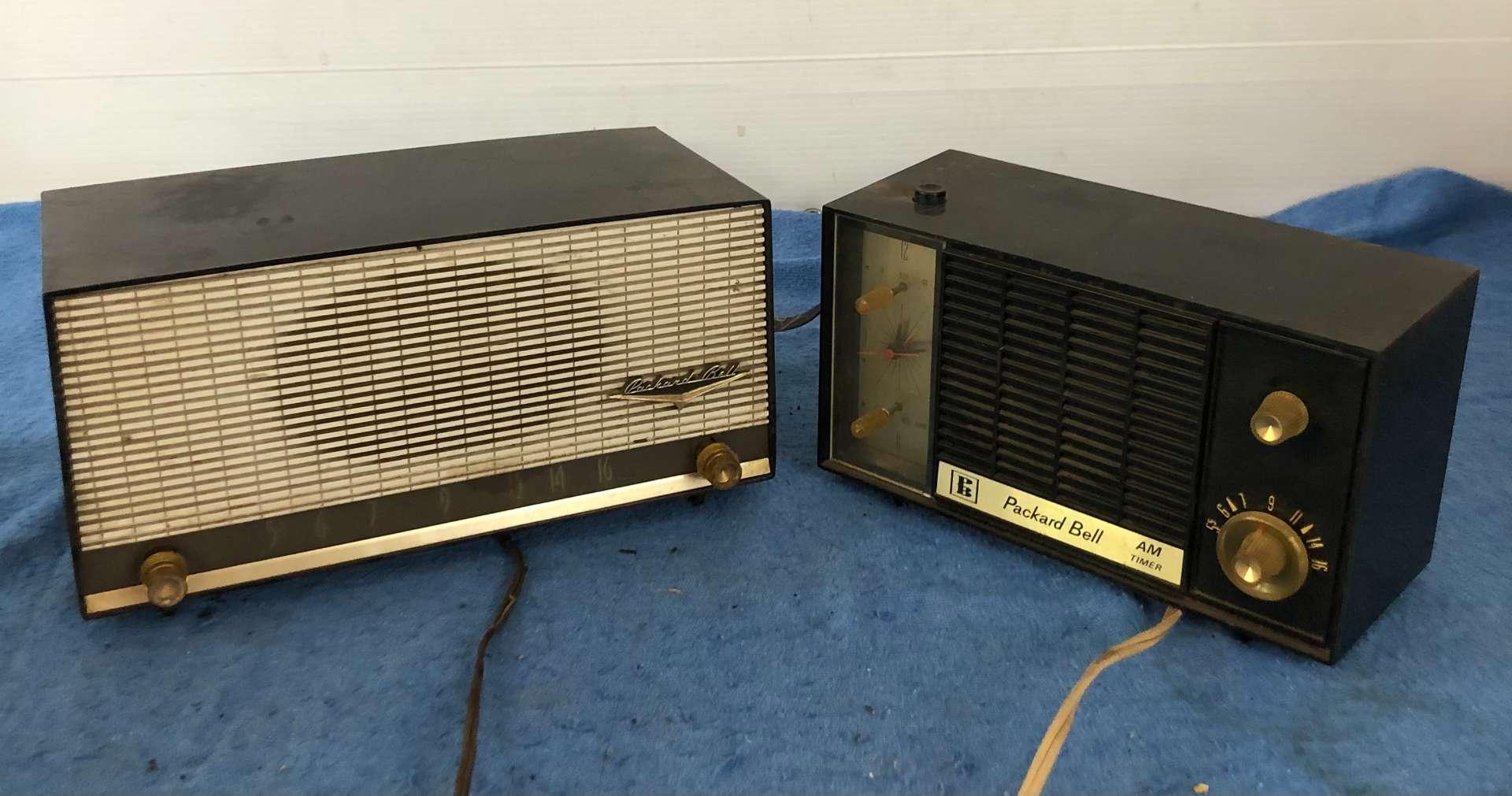 Lot # 65 - Lot of 2 Packard Bell Vintage Radios (main image)