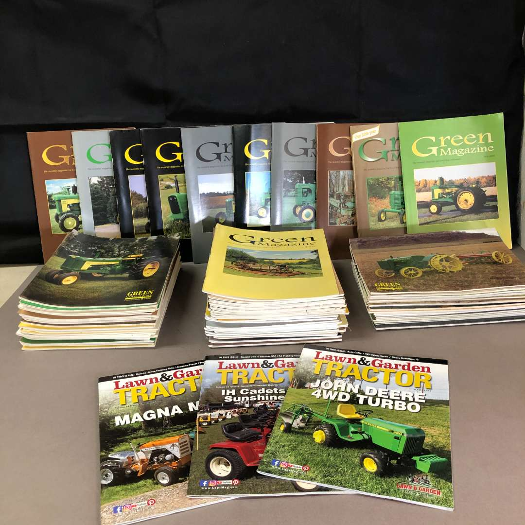 Lot # 79 - Lot of 80+ Green Magazine and Lawn & Garden Tractor (main image)