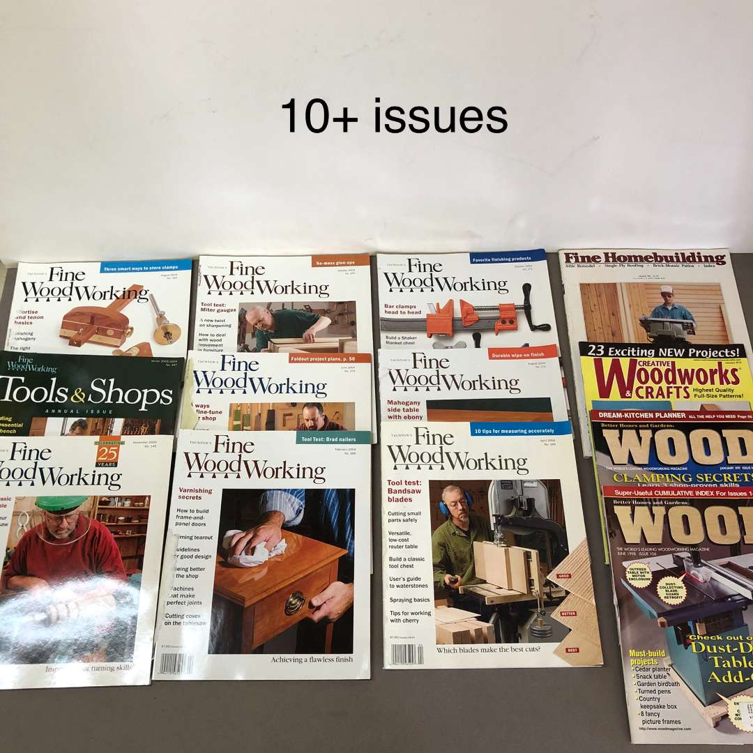 Lot # 86 - Lot of over 10 Wood working magazines (main image)