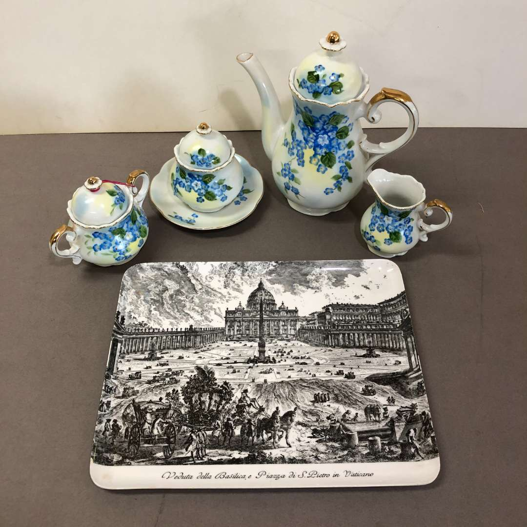 Lot # 89 - Vintage Lefton China Tea Set Floral Pattern (main image)