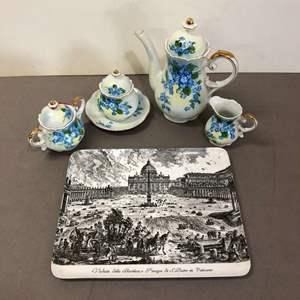 Lot # 89 - Vintage Lefton China Tea Set Floral Pattern