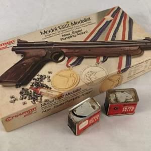 Lot # 143 - Crosman Model 1322 Medalist Single Shot .22 Caliber Pellet Pistol