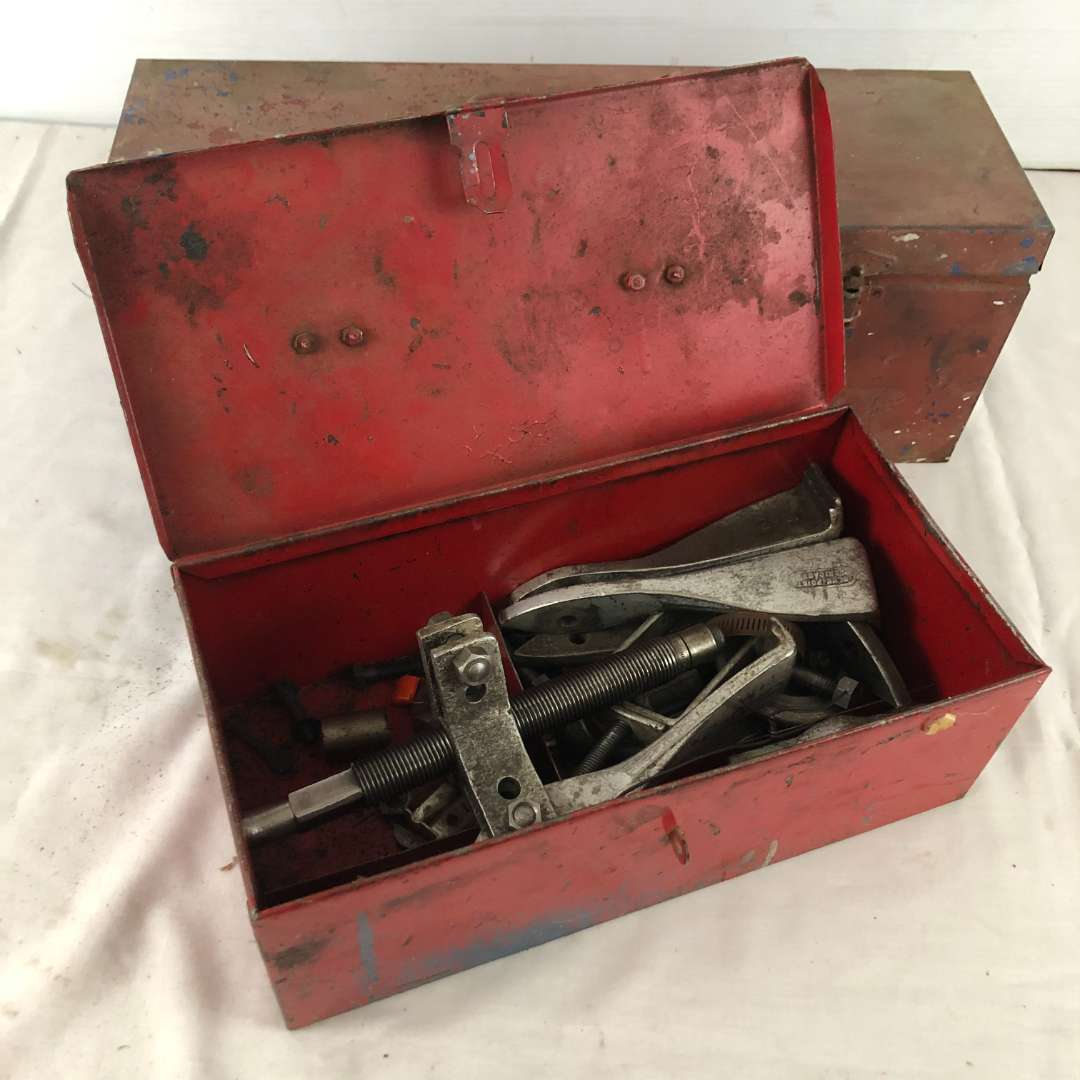 Lot # 144 - 2 Tool Boxes With Various Tools (main image)