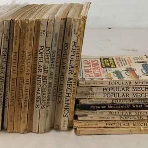 Lot # 147 - Lot of Vintage 1920's, 1930's, 1940's and 1950's Popular Mechanics Magazines
