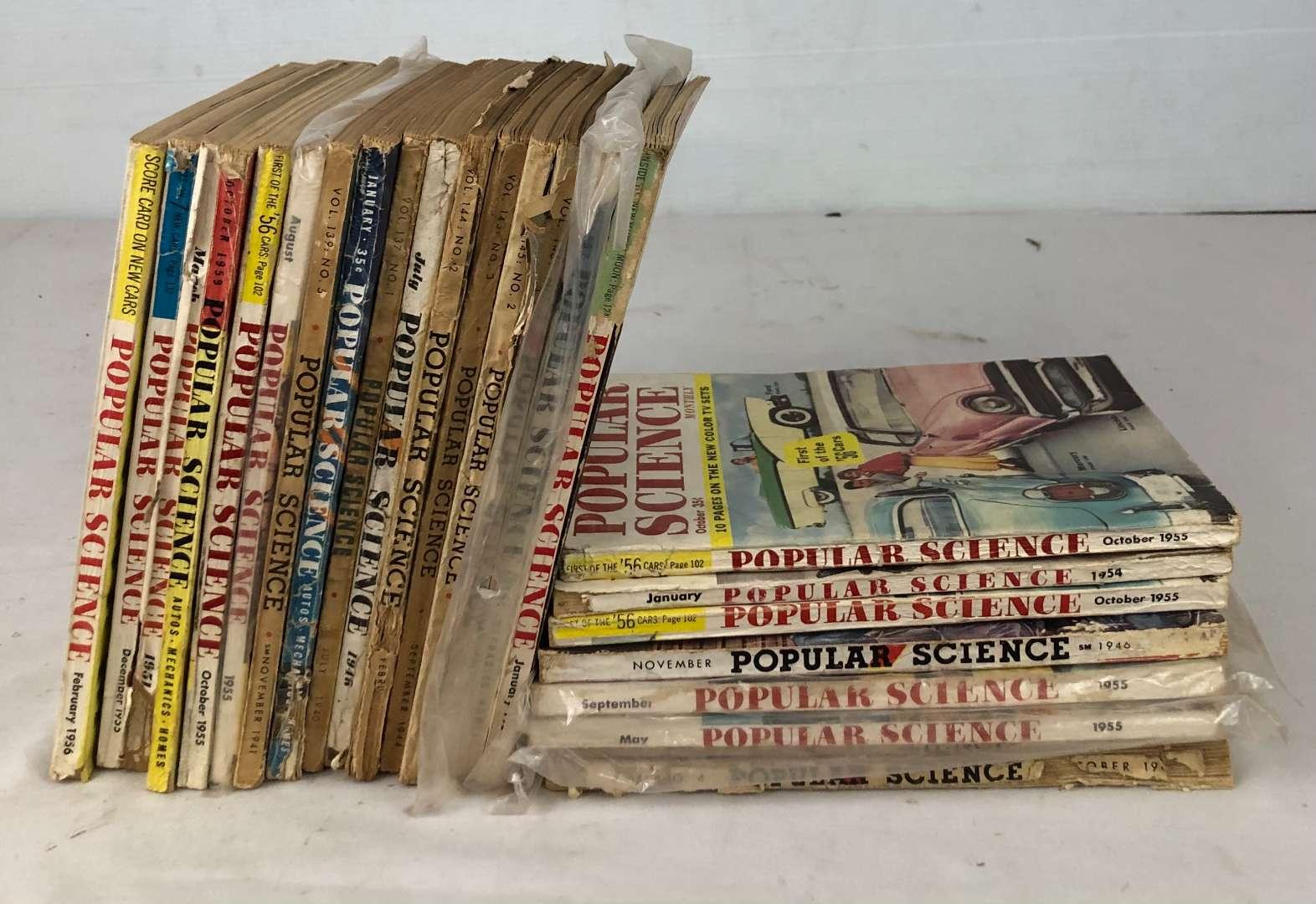 Lot # 148 - Lot of Vintage Popular Science Magazines (main image)