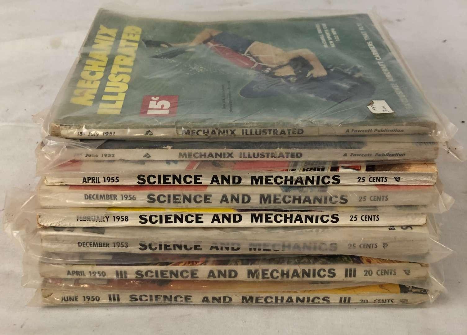 Lot # 149 - Lot of Vintage 1950's Science and Mechanics, Mechanix Illustrated Magazines (main image)