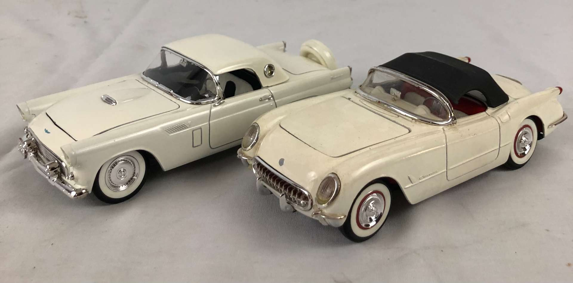 Lot # 155 - Lot of 2 Models, 1956 Thunderbird and Corvette  (main image)