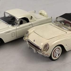Lot # 155 - Lot of 2 Models, 1956 Thunderbird and Corvette