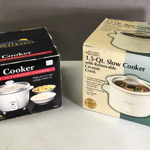 Lot # 163 - Rice Cooker and Slow Cooker
