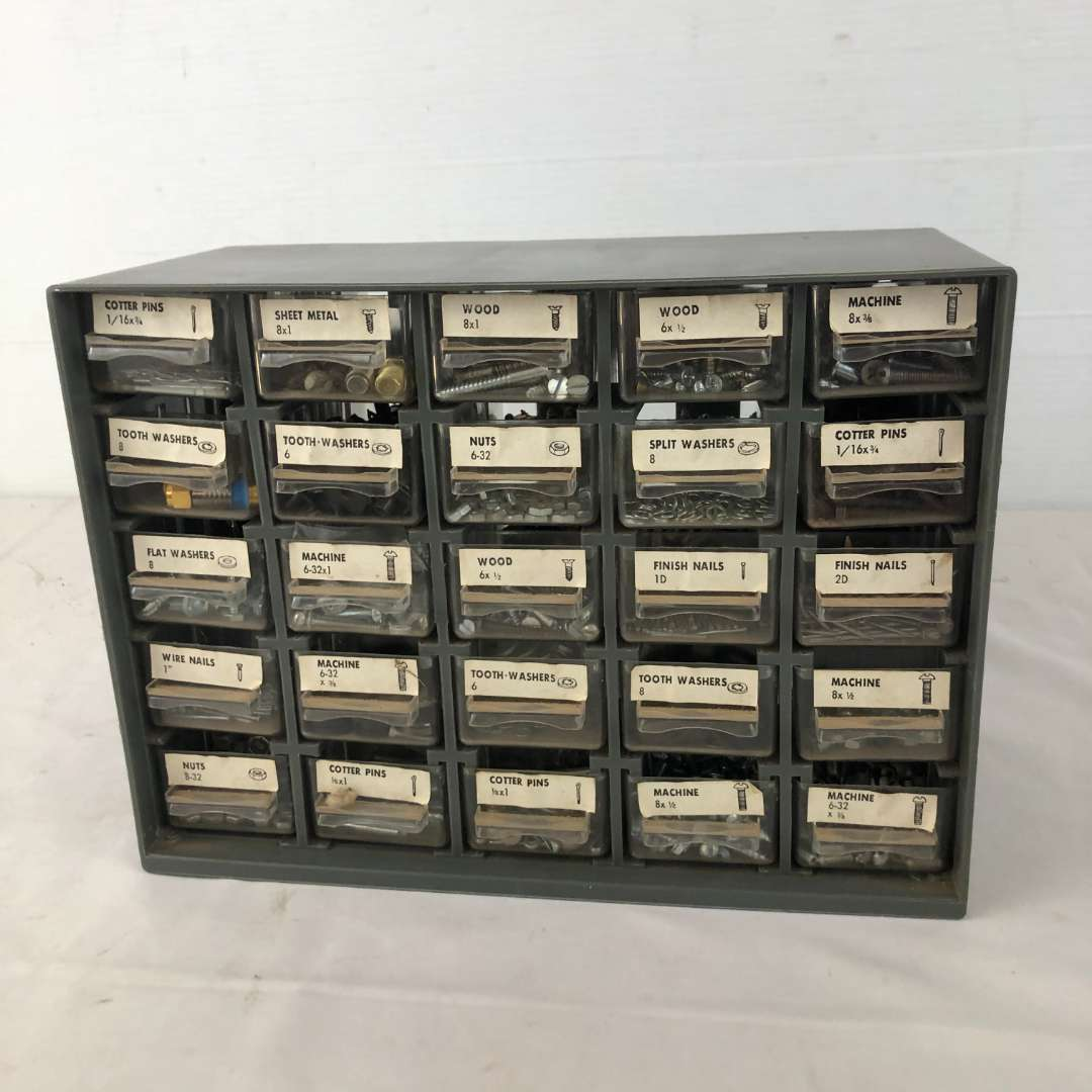 Lot # 164 - Parts Storage Drawer Full of Hardware (main image)