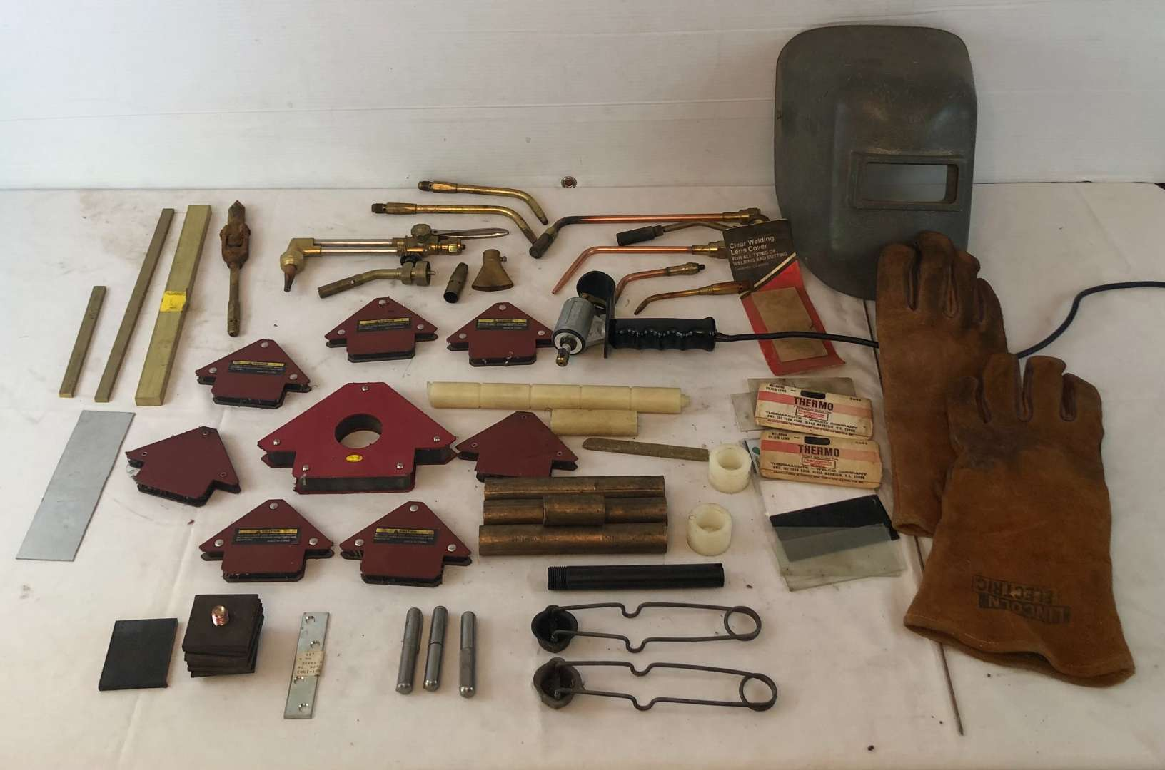Lot # 193 - Lot of Various Welding Tools and Parts (main image)