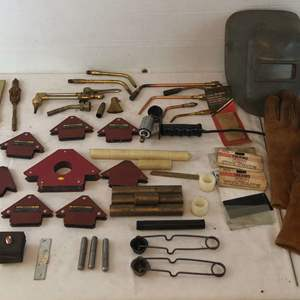 Lot # 193 - Lot of Various Welding Tools and Parts
