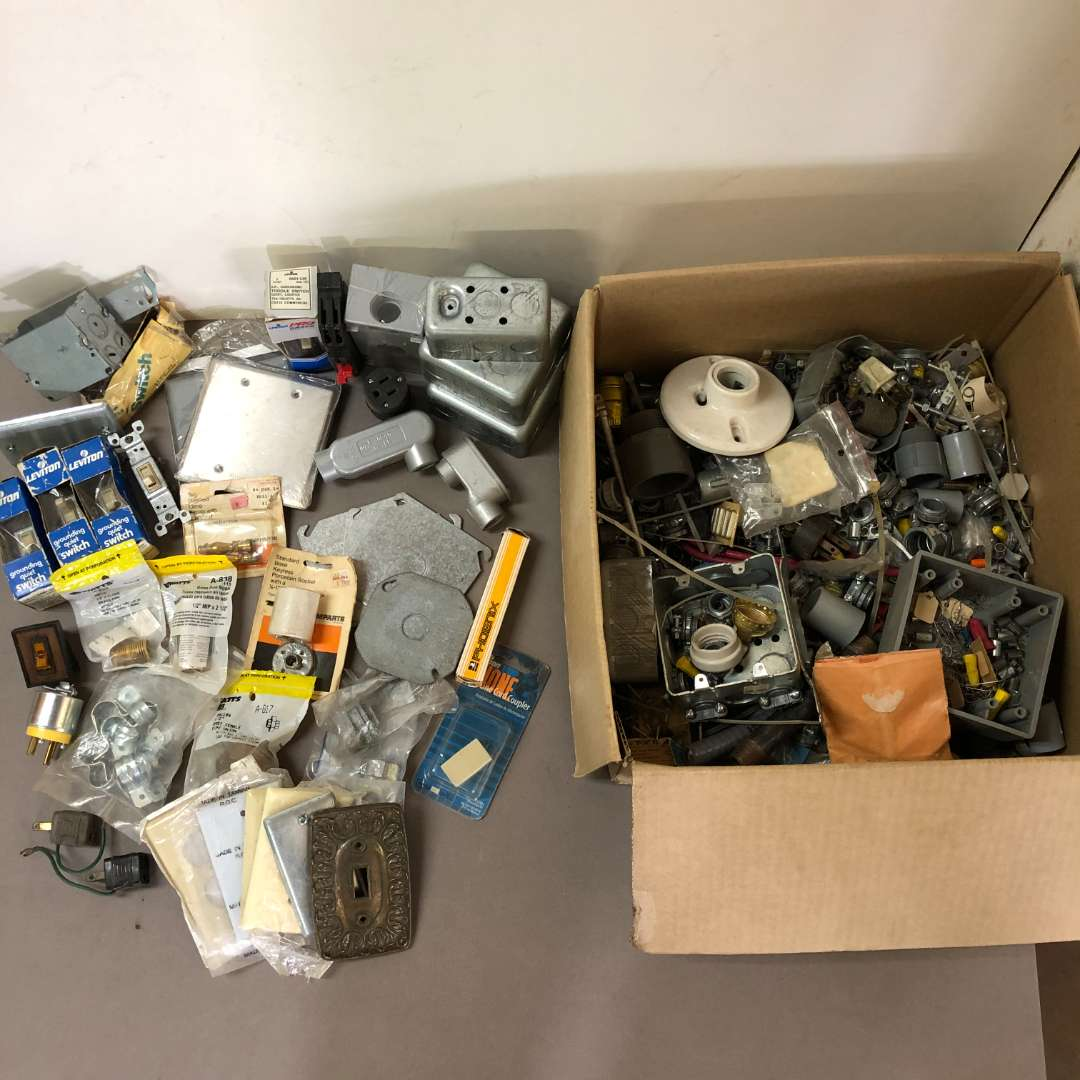 Lot # 199 - Large Lot of Various Electrical Parts and Pieces (main image)