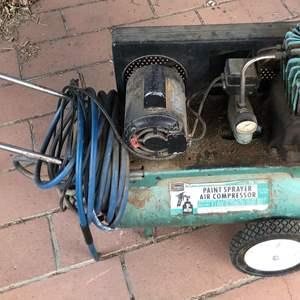 Lot # 220 - Vintage Sears Paint Sprayer Air Compressor