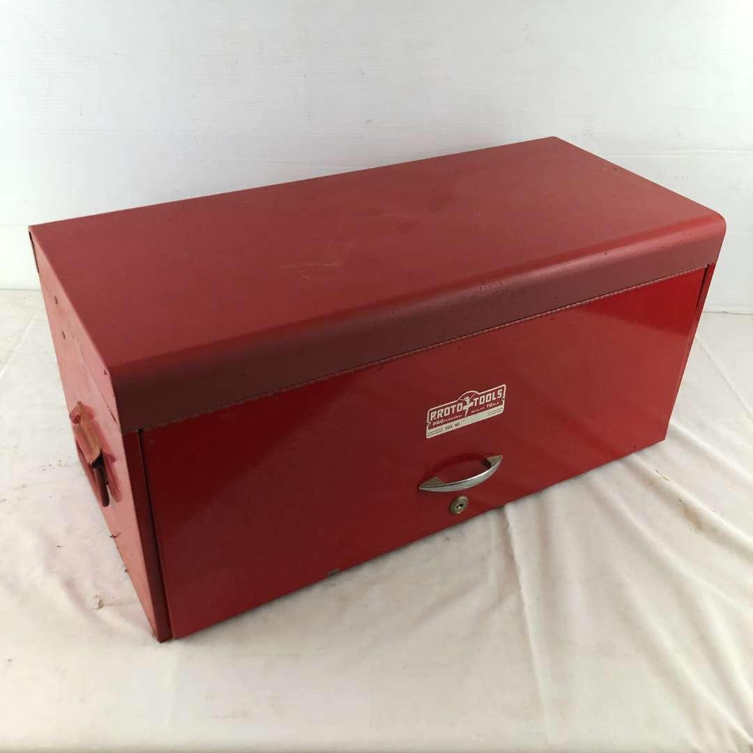 Lot # 244 - Proto Tools Red Tool Box (main image)