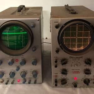 Lot # 245 - 2 Vintage Oscilloscopes, EICO and RCA