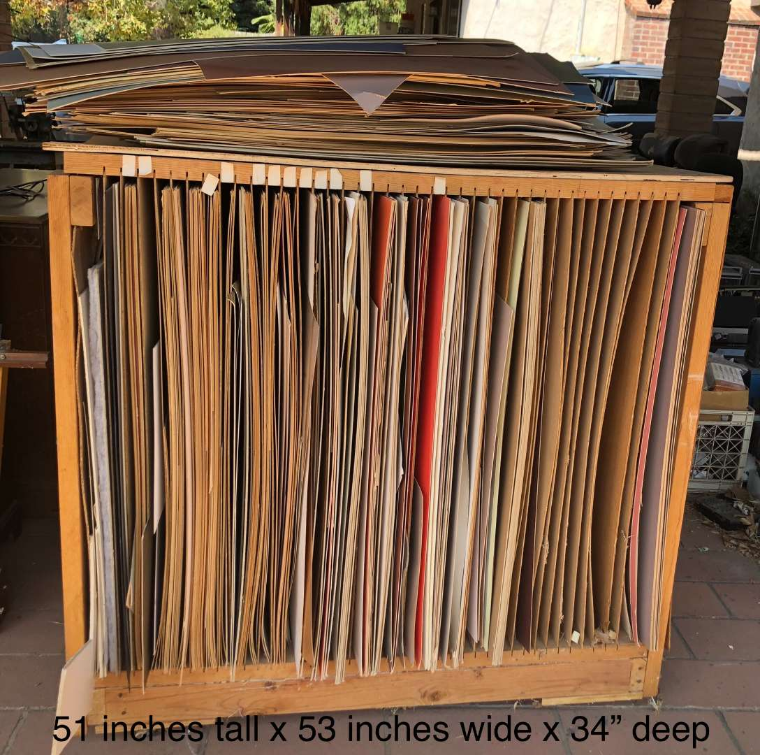 Lot # 250 - Mat Board and Mat Board Storage Rack (main image)
