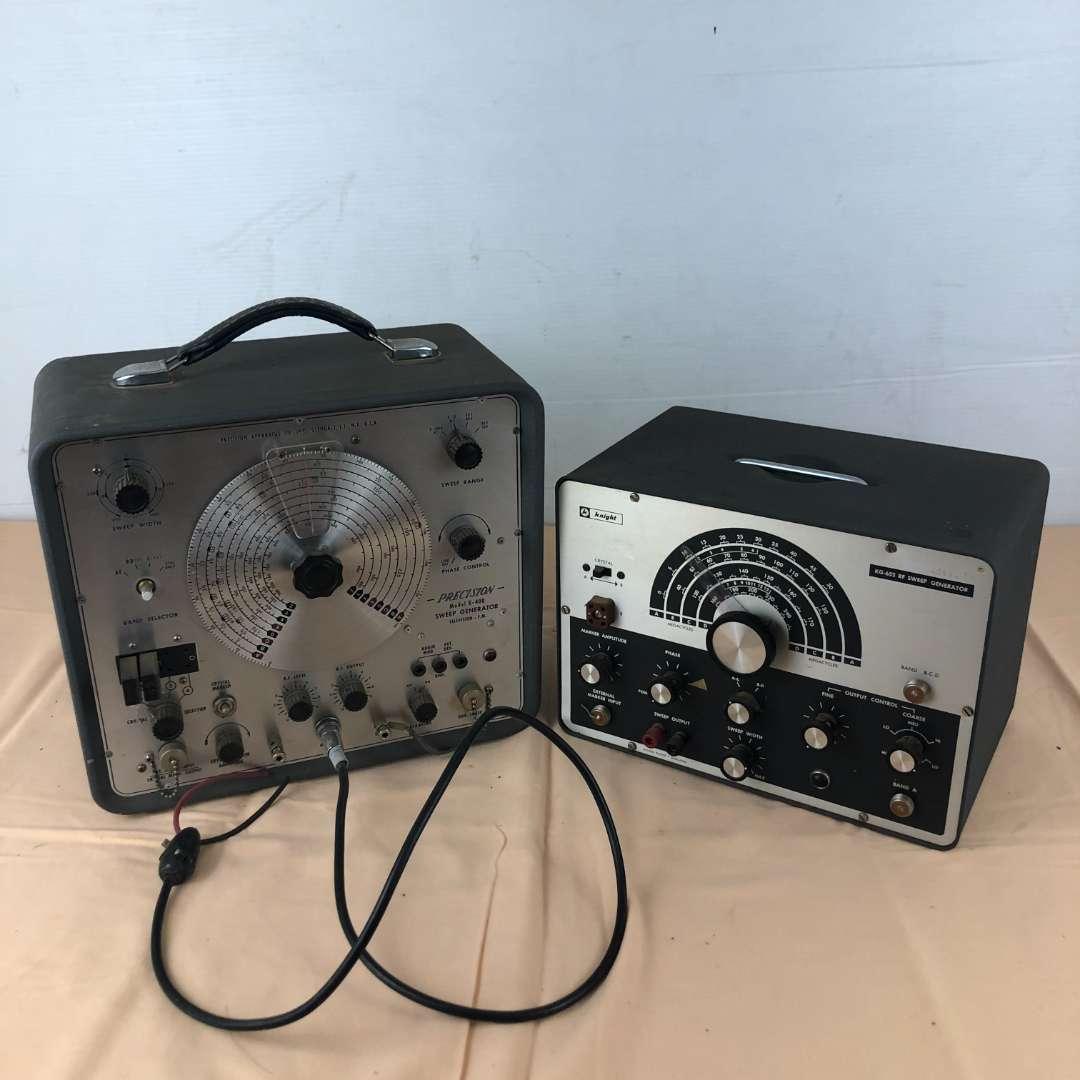 Lot # 263 - Knight KG-652 Sweep Generator and Precision Model E-400 Sweep Generator (main image)