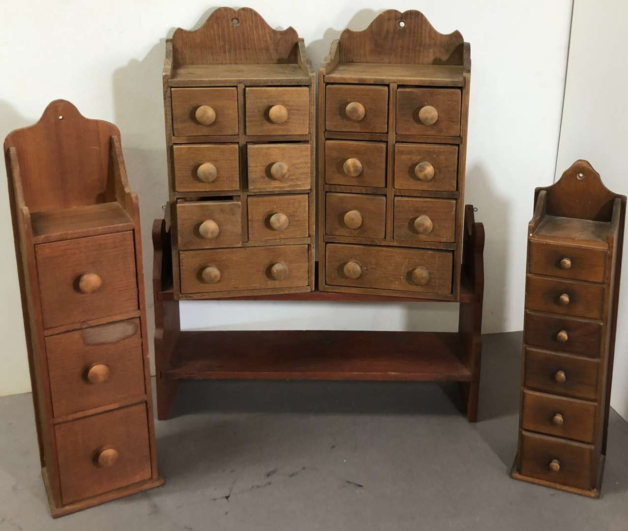 Lot # 264 - Lot of Hanging Drawers and Wood Shelf (main image)