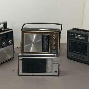 Lot # 266 - Lot of Various Radios and Cassette Recorder Afco, Sankyo, Sony, Sears