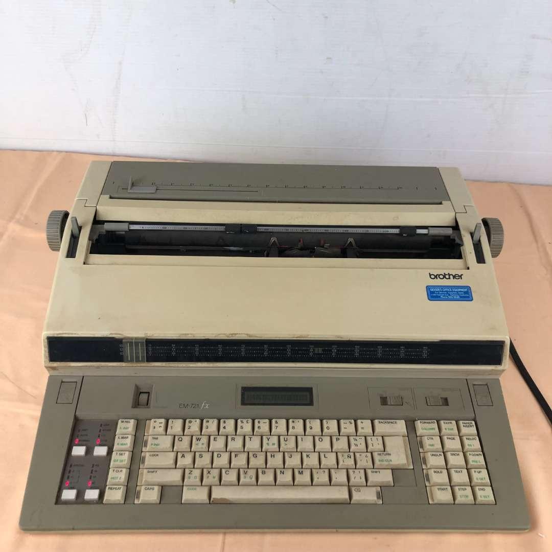 Lot # 267 - Brother Model EM-701 fx Electric Typewriter (main image)