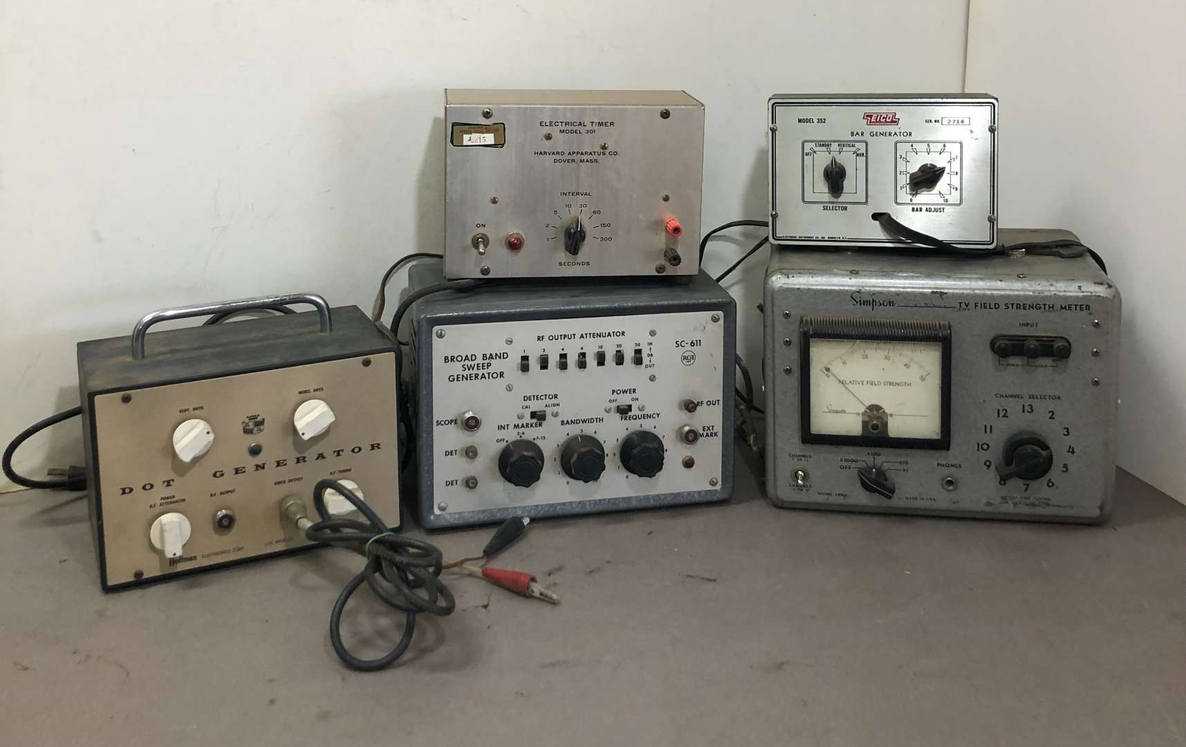 Lot # 268 - Lot of Various Vintage Equipment, Simpson, EICO, RCA, Harvard Apparatus Co, Hoffman (main image)