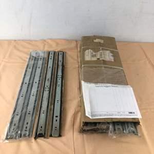 """Lot # 271 - 11 Sets of Drawer Slides, Zinc, 22"""" Fully Extended"""