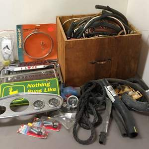 Lot # 280 - Lot of Car Parts, License Plate Frames, Hoses and More