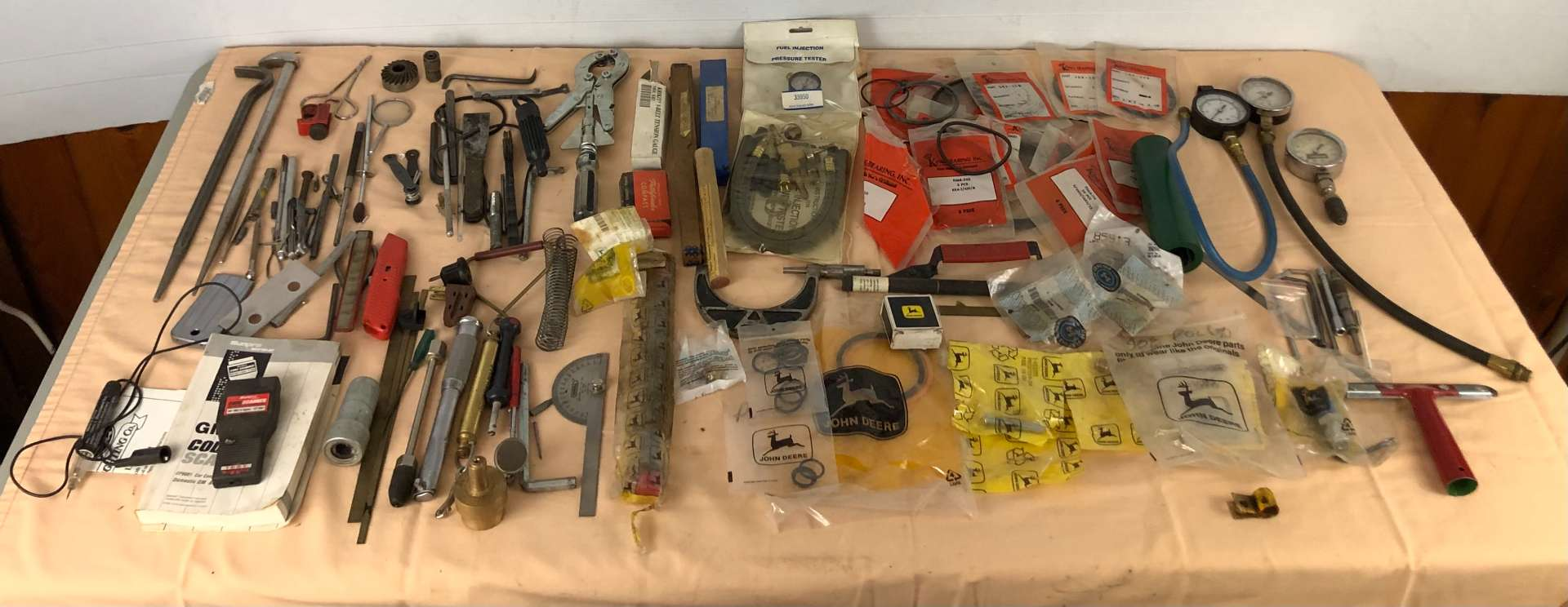 Lot # 283 - Large Lot of Tools, John Deere Parts and More (main image)