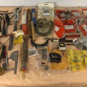 Lot # 283 - Large Lot of Tools, John Deere Parts and More