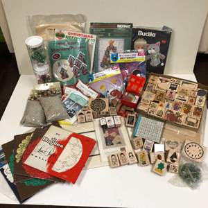 Lot # 19 - Huge Stamp Collection and various craft kits and supplies