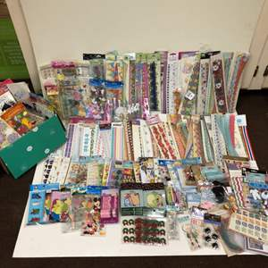 Lot # 20 - Huge Lot of Scrapbooking Stickers and Borders
