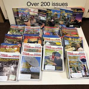 Lot # 23 - Popular Communications Magazines - Over 200 issues