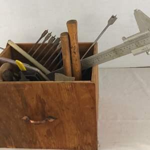 Lot # 56 - Wood Drawer Full of Tools