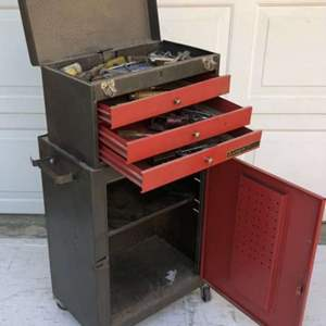 Lot # 92 - Rolling Tool Box with Tools
