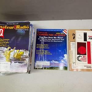 Lot # 98 - Lot of over 25 Amateur Radio CQ, Popular Communications and Ham Radio magazines