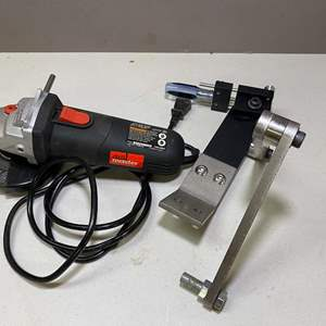 """Lot # 117 - DrillMaster 4-1/2"""" Angle Grinder with Mount"""